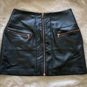 Kendall & Kylie leather skirt